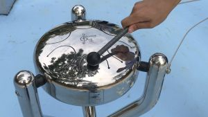 The themed Musical Zone in the playground provides various musical playthings such as percussion instruments and drums..
