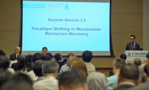 Experts and delegates are discussing issues of water resources policy and management, sustainable development, flood prevention and sewage treatment at the conference..