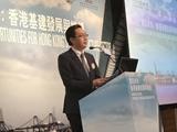發展局局長馬紹祥今日(五月十六日)在《香港經濟日報》主辦的「建造未來:香港基建的發展與機遇午餐會」上致辭。.