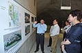 Mr Tsang is briefed on a project to relocate service reservoirs at Pok Fu Lam in a cavern and release the land for the University of Hong Kong's Centennial Campus.