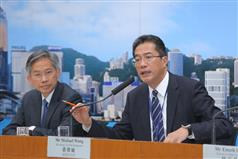 SDEV holds press conference on enhancing drinking water safety in Hong Kong.