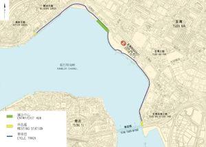 荃湾海滨段新单车径沿荃湾海滨公园至湾景花园对出的海旁兴建,长约2.3公里,给市民多一个消闲、康乐的选择。.