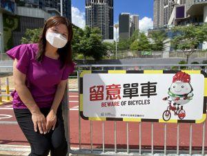 邓可忻表示,为加强踏单车人士及其他道路使用者对单车径的安全意识,土拓署借用了道路安全议会吉祥物「留心蛋」,设计了一系列简单易明的「温馨提示」。.