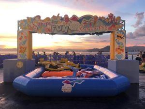 卑路乍湾海滨休憩用地现已全面24小时开放,为市民提供可饱览维港西面和夕阳海景的消闲空间。.
